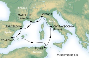 7-Night Roundtrip From Barcelona, Rome or Genoa