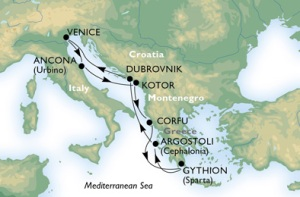 7-Night Roundtrip From Venice or Ancona