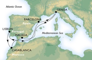 8-Night Roundtrip From Genoa or Barcelona
