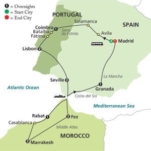 Spain Portugal Morocco